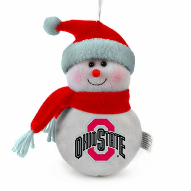Ohio State Plush Snowman Ornament (Set of 3)