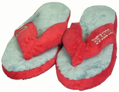 Ohio State Plush Thong Slippers