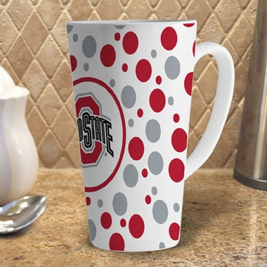 Ohio State Polkadot 16 oz. Ceramic Latte Mug