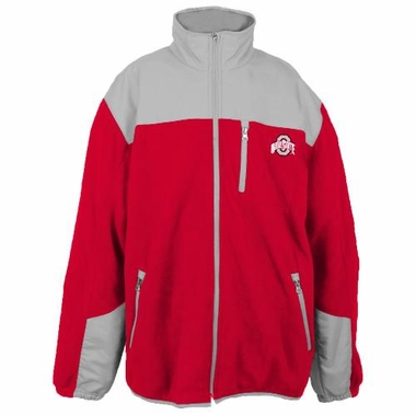Ohio State Poly Dobby Full Zip Polar Fleece Jacket