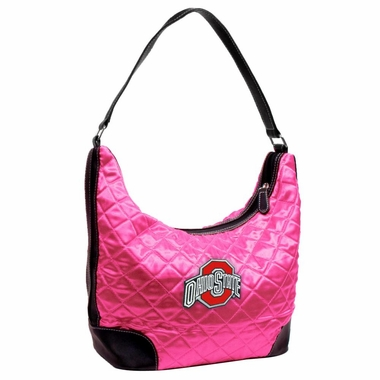 Ohio State Quilted Hobo Purse