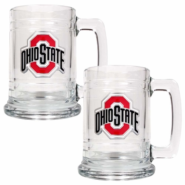 Ohio State Set of 2 15 oz. Tankards