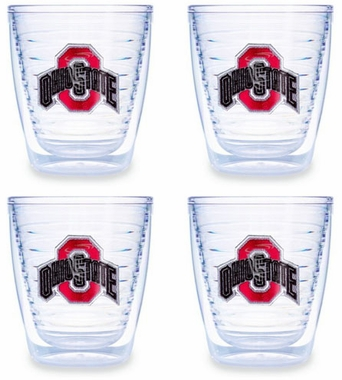 Ohio State Set of FOUR 12 oz. Tervis Tumblers