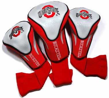 Ohio State Set of Three Contour Headcovers