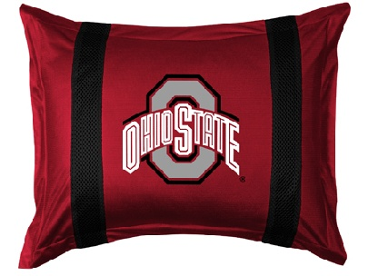 Ohio State SIDELINES Jersey Material Pillow Sham