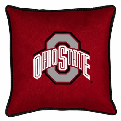 Ohio State SIDELINES Jersey Material Toss Pillow