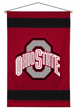 Ohio State SIDELINES Jersey Material Wallhanging