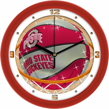 Ohio State Slam Dunk Wall Clock