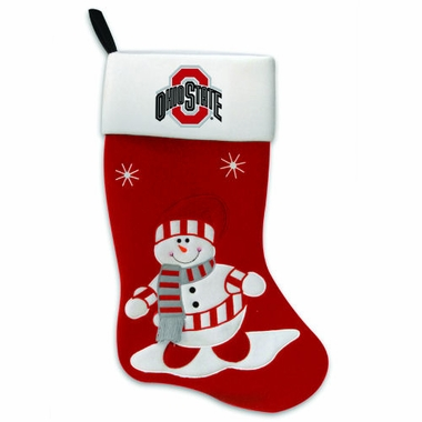 Ohio State Snowman Felt Stocking