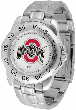 Ohio State Sport Men's Steel Band Watch