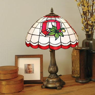 Ohio State Stained Glass Table Lamp