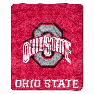 Ohio State Super-Soft Sherpa Blanket
