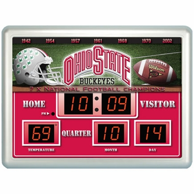 Ohio State Time / Date / Temp. Scoreboard