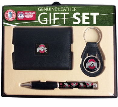 Ohio State Trifold Wallet Key Fob and Pen Gift Set