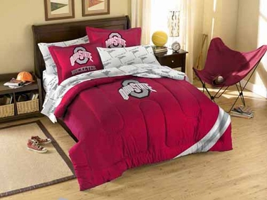 Ohio State Twin Comforter and Shams Set