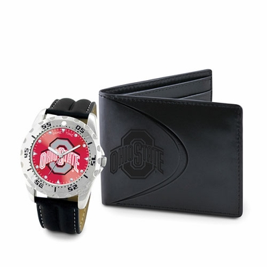 Ohio State Watch and Wallet Gift Set