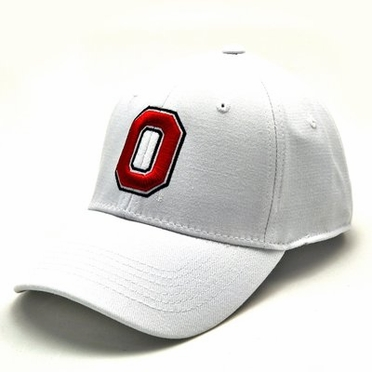 Ohio State White Premium FlexFit Hat