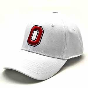 Ohio State White Premium FlexFit Hat - Large / X-Large