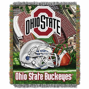 Ohio State Woven Tapestry Throw Blanket