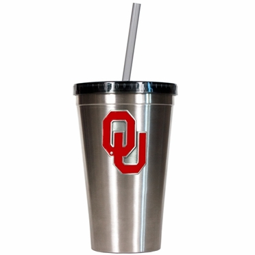 Oklahoma 16oz Stainless Steel Insulated Tumbler with Straw