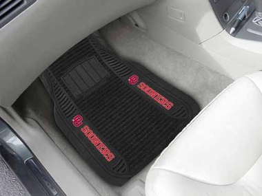 Oklahoma 2 Piece Heavy Duty DELUXE Vinyl Car Mats