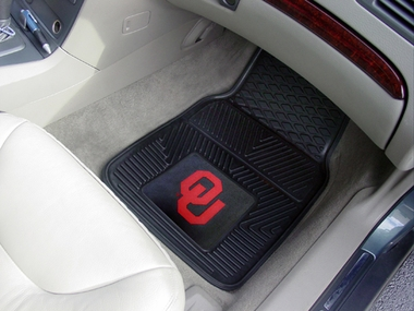Oklahoma 2 Piece Heavy Duty Vinyl Car Mats