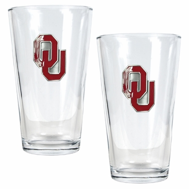 Oklahoma 2 Piece Pint Glass Set