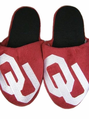 Oklahoma 2011 Big Logo Hard Sole Slippers (Two Tone)