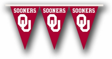 Oklahoma 25 Foot String of Party Pennants (P)