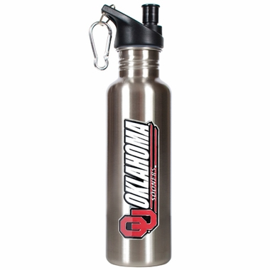 Oklahoma 26oz Stainless Steel Water Bottle (Silver)