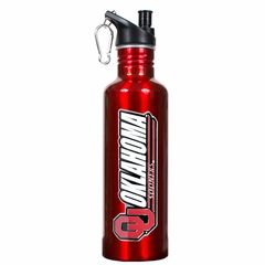 Oklahoma 26oz Stainless Steel Water Bottle (Team Color)