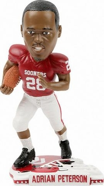 Oklahoma Adrian Peterson Back To School Bobblehead