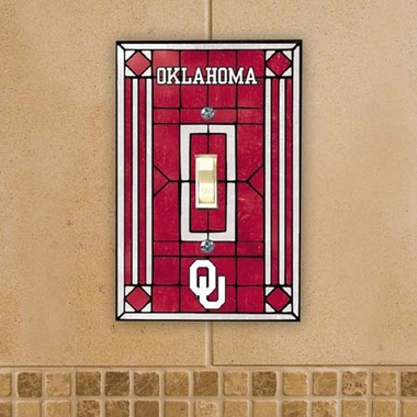 Oklahoma Art Glass Lightswitch Cover
