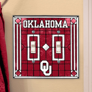 Oklahoma Art Glass Lightswitch Cover (Double)
