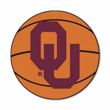 Oklahoma Basketball Shaped Rug
