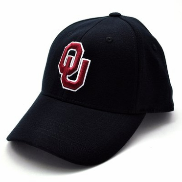 Oklahoma Black Premium FlexFit Baseball Hat