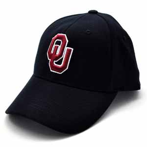 Oklahoma Black Premium FlexFit Baseball Hat - Small / Medium