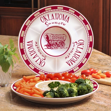 Oklahoma Ceramic Chip and Dip Plate