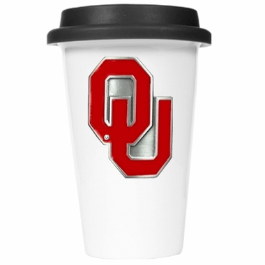 Oklahoma Ceramic Travel Cup (Black Lid)