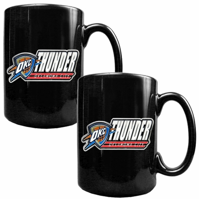 Oklahoma City Thunder 2 Piece Coffee Mug Set (Wordmark)