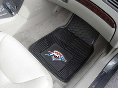 Oklahoma City Thunder 2 Piece Heavy Duty Vinyl Car Mats