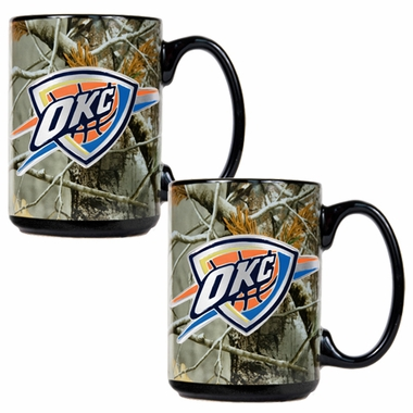 Oklahoma City Thunder 2 Piece Open Field Coffee Mug Set