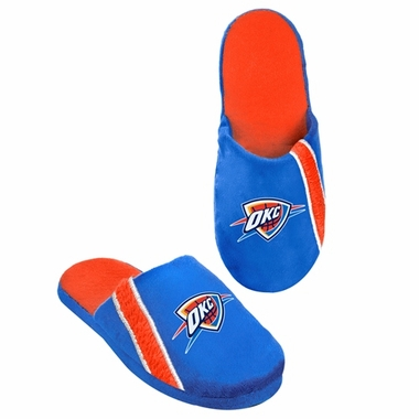 Oklahoma City Thunder 2012 Team Stripe Logo Slippers
