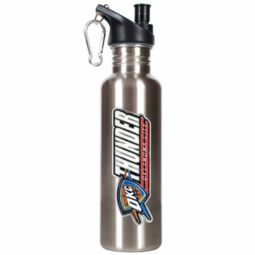 Oklahoma City Thunder 26oz Stainless Steel Water Bottle (Silver)