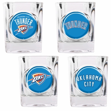 Oklahoma City Thunder 4 Piece Assorted Shot Glass Set