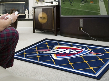 Oklahoma City Thunder 5 Foot x 8 Foot Rug
