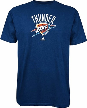 Oklahoma City Thunder Adidas NBA Full Primary Logo T-Shirt - Navy