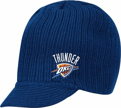 Oklahoma City Thunder Adidas NBA Navy Visor Knit Hat