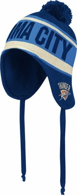 Oklahoma City Thunder Adidas Originals NBA Peruvian Knit Hat w/ Tassels