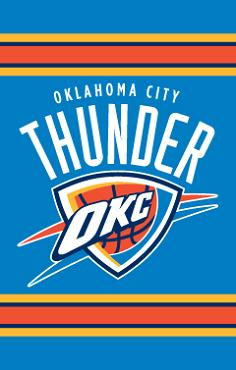 Oklahoma City Thunder Applique Banner Flag